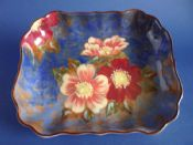 Fine Vintage Royal Doulton 'Wild Rose' Series Art Deco Dish D6227 c1952